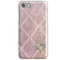 Mixed Media Art Page  iPhone Case/Skin
