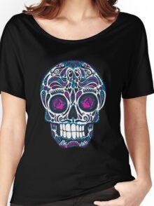 Calavera IV Sugar Skull Neon Women's Relaxed Fit T-Shirt