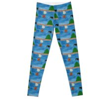 Mario's World Bullet Bill Leggings