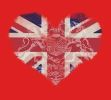 Union Jack in heart shape with thorn edges by Kerto Koppel-Catlin