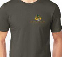 Golden Valley Tree Park - T Shirt - Small Logo - Yellow Text  Unisex T-Shirt