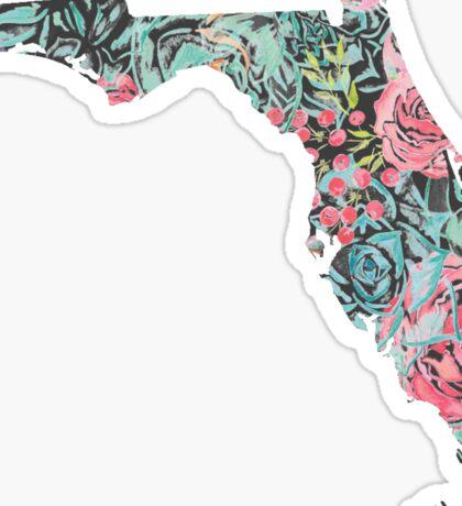 Floral Florida State Sticker
