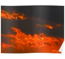 Flaming-broiled sunset Poster