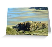 Castle Rock- Perranporth Beach Cornwall UK Greeting Card