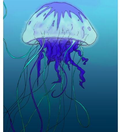 Jellyfish- Color Sticker