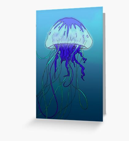 Jellyfish- Color Greeting Card