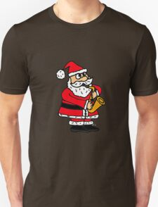 Cool Funny Santa Claus Playing Saxophone T-Shirt