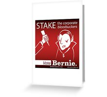 Bernie Sanders Halloween Corporate Bloodsuckers Greeting Card