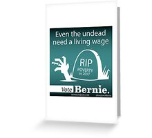 Bernie Halloween Sticker Undead Living Wage  Greeting Card