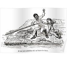 Achille Sirouy Mark Twain Les Aventures de Huck Huckleberry Finn illustration p102 Poster