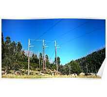Lines of Power - Guthega, New South Wales Poster