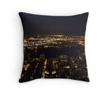 View from the top - Empire State Building, New York City Throw Pillow