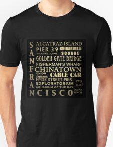 San Francisco Famous Landmarks T-Shirt