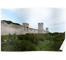 Outside the Visby City Wall Poster