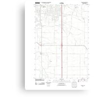 USGS Topo Map Oregon Tangent 20110831 TM Canvas Print