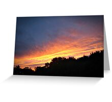 August Sunset in Connecticut Greeting Card