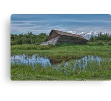 Collapsed Alberta Barn Canvas Print