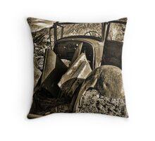 Desert Wreck Throw Pillow