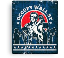 Occupy Wall Street poster Canvas Print