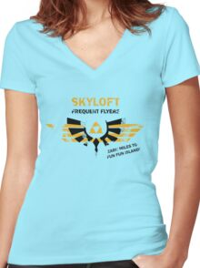 Skyloft Frequent Flyers Women's Fitted V-Neck T-Shirt