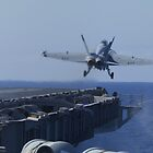 FA-18 Super Hornet Launches off of CVN-70 by Eric  Neitzel