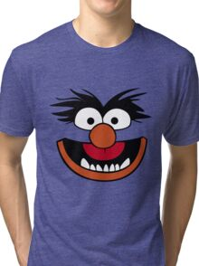 Animal Muppet (Orange Lips&Nose) Tri-blend T-Shirt