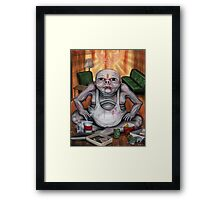 TV Zombie 3 'to much TV will give you square eyes Framed Print