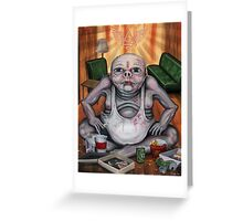 TV Zombie 3 'to much TV will give you square eyes Greeting Card