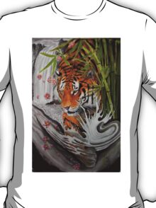 Tiger and waterfall T-Shirt
