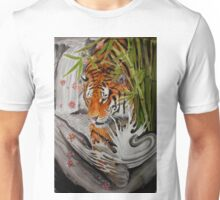 Tiger and waterfall Unisex T-Shirt