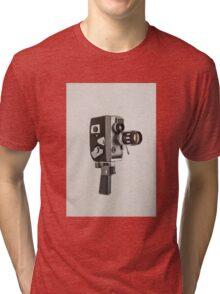 Retro Cine Camera Tri-blend T-Shirt