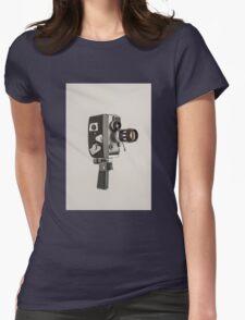 Retro Cine Camera Womens Fitted T-Shirt