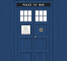 The TARDIS iPhone Case by mechantefille