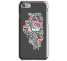 Floral Illinois State iPhone Case/Skin