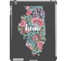 Floral Illinois State iPad Case/Skin