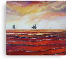 Oil Rigs on the Horizon Canvas Print