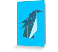 Origami Penguin Illustration Greeting Card