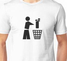 Bin your golf bag Unisex T-Shirt