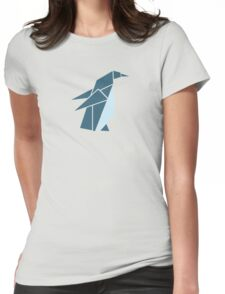 Origami Penguin Illustration Womens Fitted T-Shirt