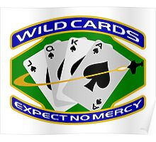 58th Squadron - 'Wildcards' Logo Poster