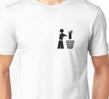 Bin your golf bag pocket Unisex T-Shirt