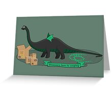 Dinosaurs love to cosplay Greeting Card