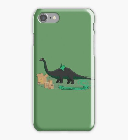 Dinosaurs love to cosplay iPhone Case/Skin