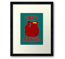 Foxy boxing Framed Print