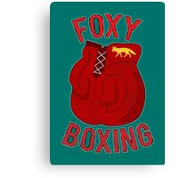 Foxy boxing Canvas Print