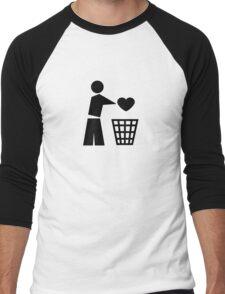 Bin your heart Men's Baseball ¾ T-Shirt
