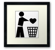 Bin your heart Framed Print