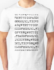 Old typewriter letters Unisex T-Shirt