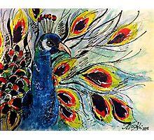 Oil/Acrylic Peacock Photographic Print