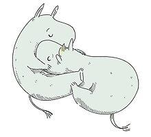 moomintroll & snorkmaiden by littlenim